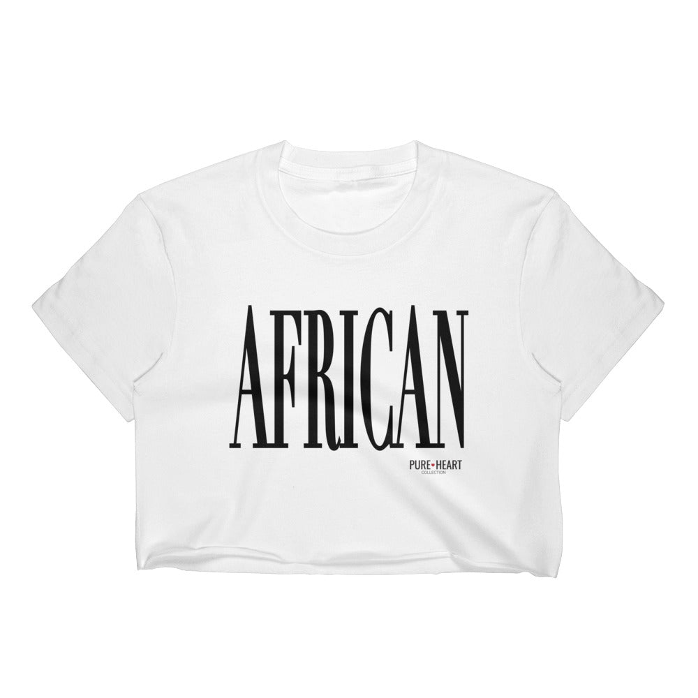 African Women's Crop Top