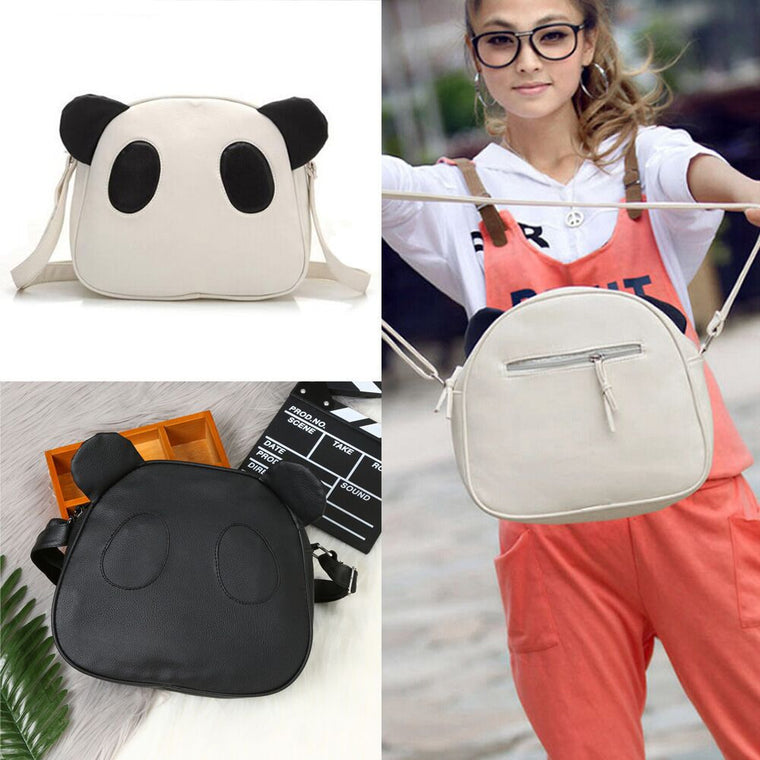 Women's Fashion Cute Panda  Leather Handbag Crossbody Shoulder Bags