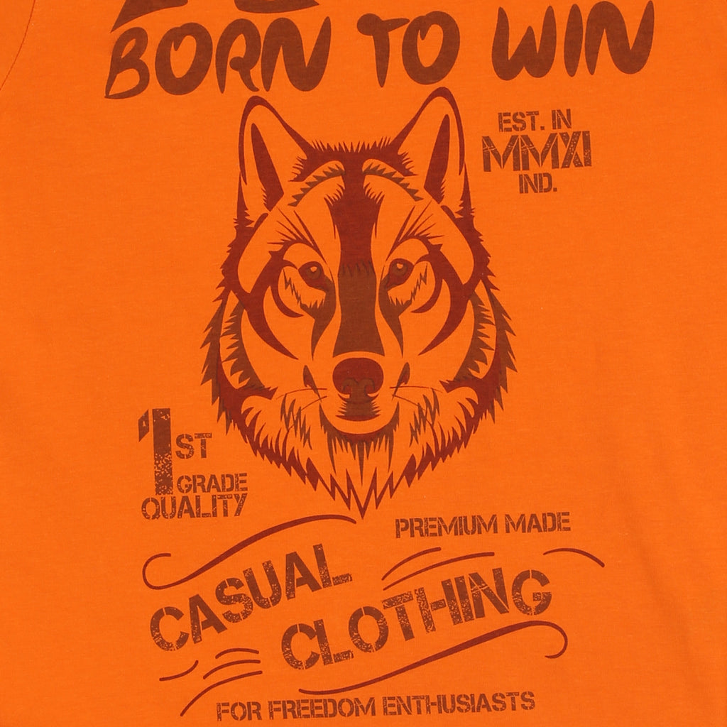 JusCubs Printed Born To Win T-shirt