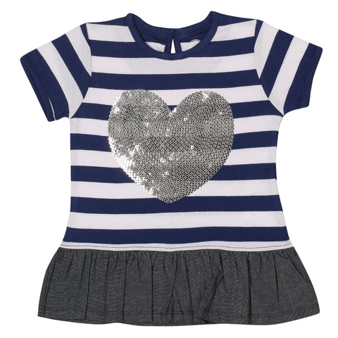 Jus Cubs Girls Heart Work  T-Shirt - Multi