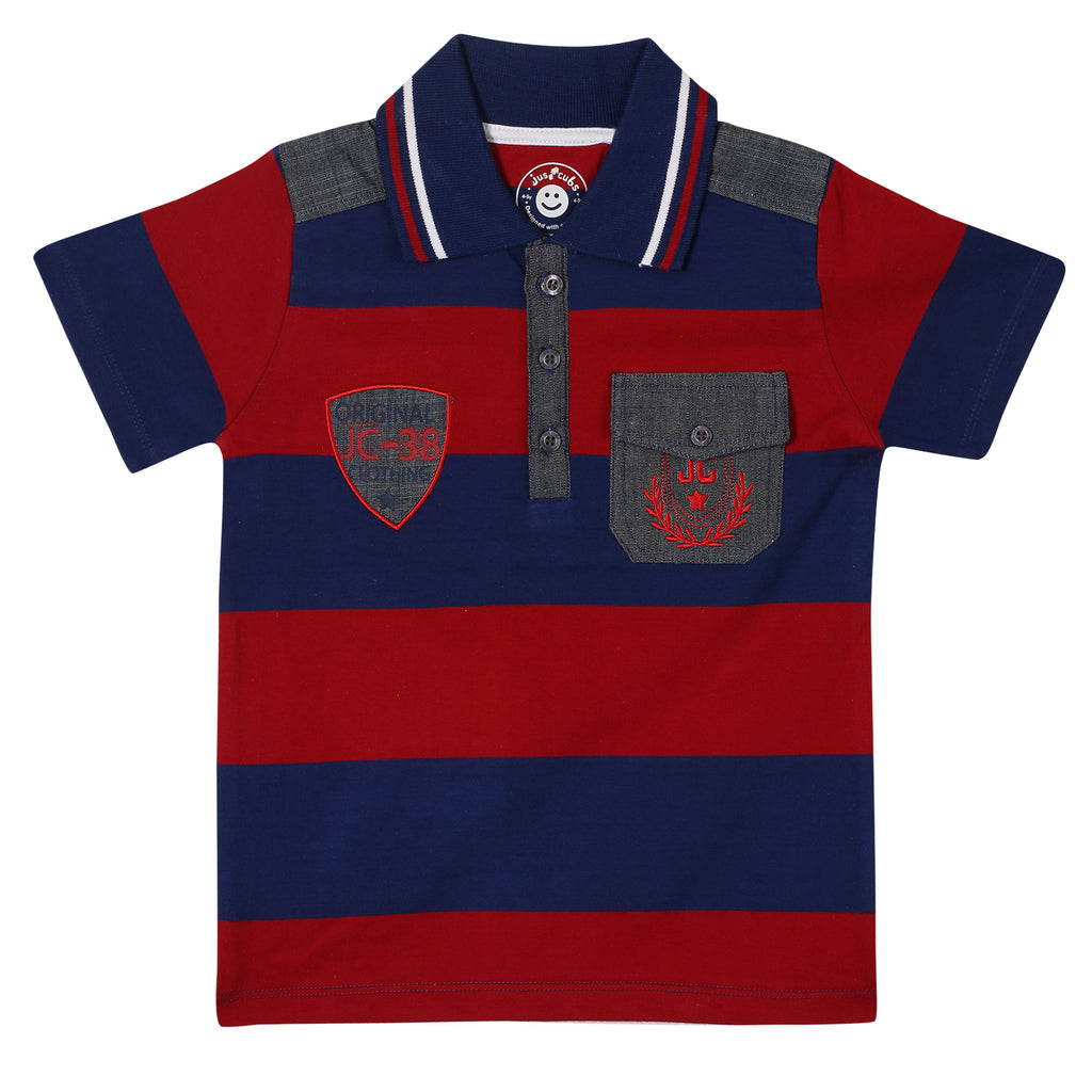 JusCubs Boys Fashion Polo T-Shirt-Multi