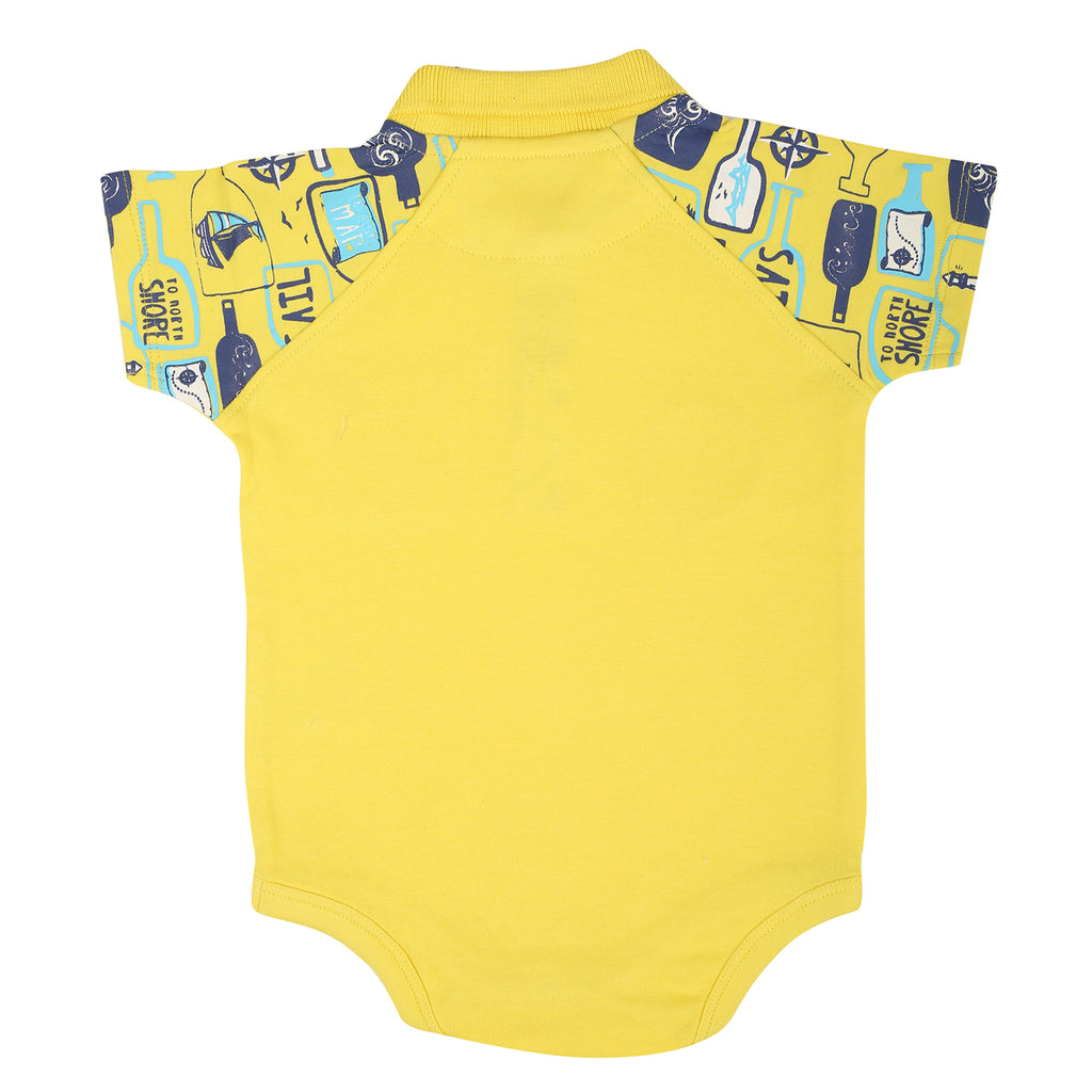 JusCubs Polo Printed Body Suit