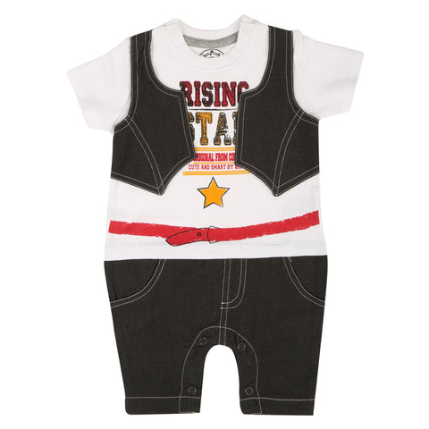 JusCubs Raising Star Printed Romper