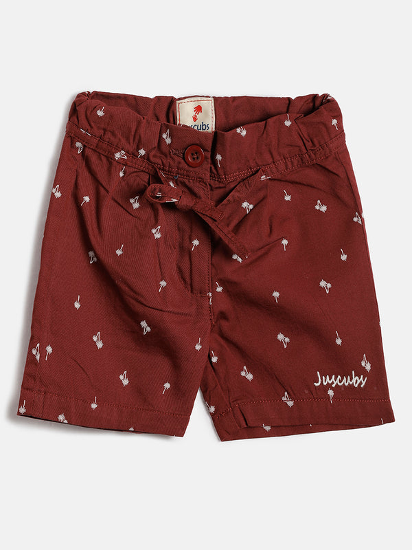 JusCubs Palm Tree Girls Woven Shorts