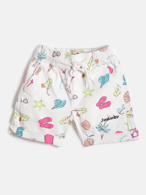 JusCubs Girls Woven Summer AOP Shorts