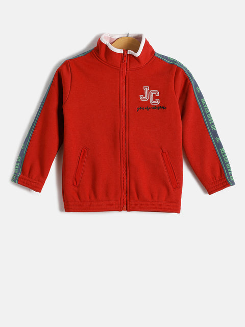 JusCubs Girls JC You are Awesome With Zipper Hoodie Jacket - Red