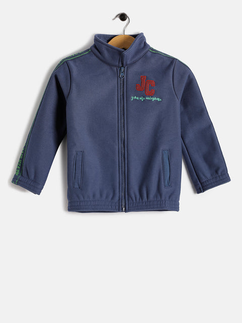 JusCubs Girls JC You are Awesome With Zipper Hoodie Jacket - Navy