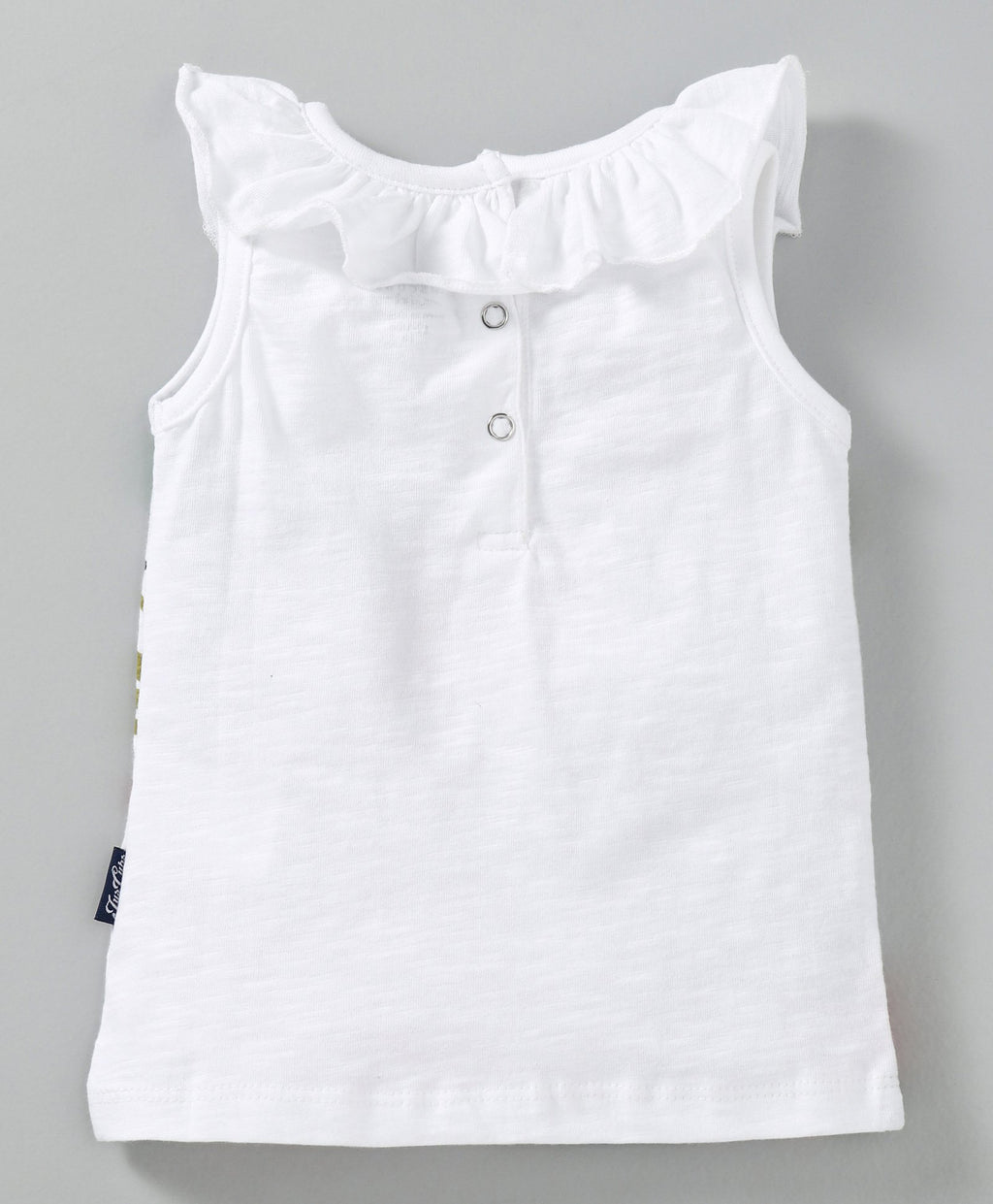 JusCubs Girls  Sleeveless Tee - White