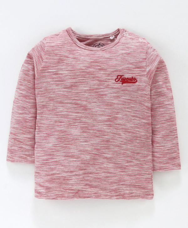 Jus Cubs Striped Full Sleeves Tee - Pink