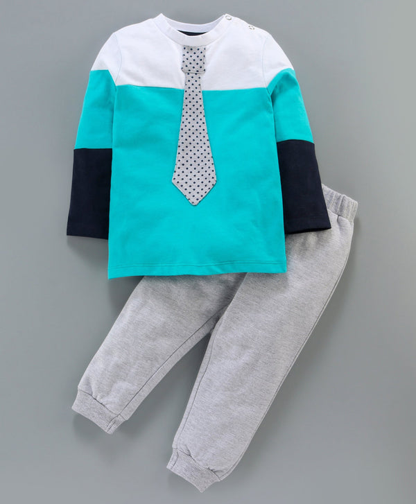 Jus Cubs Color Block Full Sleeves Track Suit