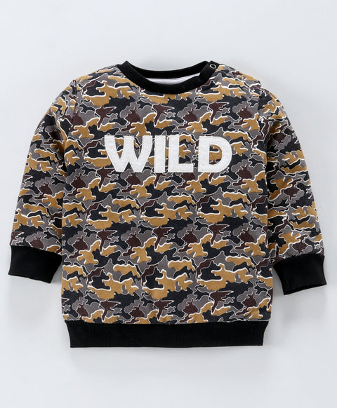Jus Cubs Full Sleeves Wild Patch Detailed Sweatshirt