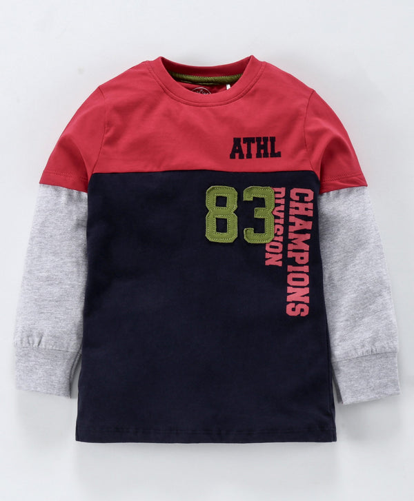 Jus Cubs 83 Patch Full Sleeves Tee - Multi Color