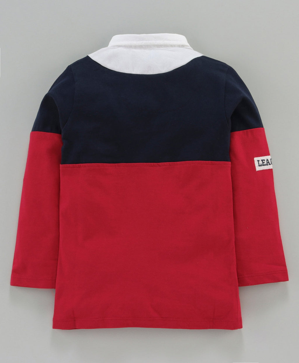 Jus Cubs 83 Print Full Sleeves Polo Tee - Red