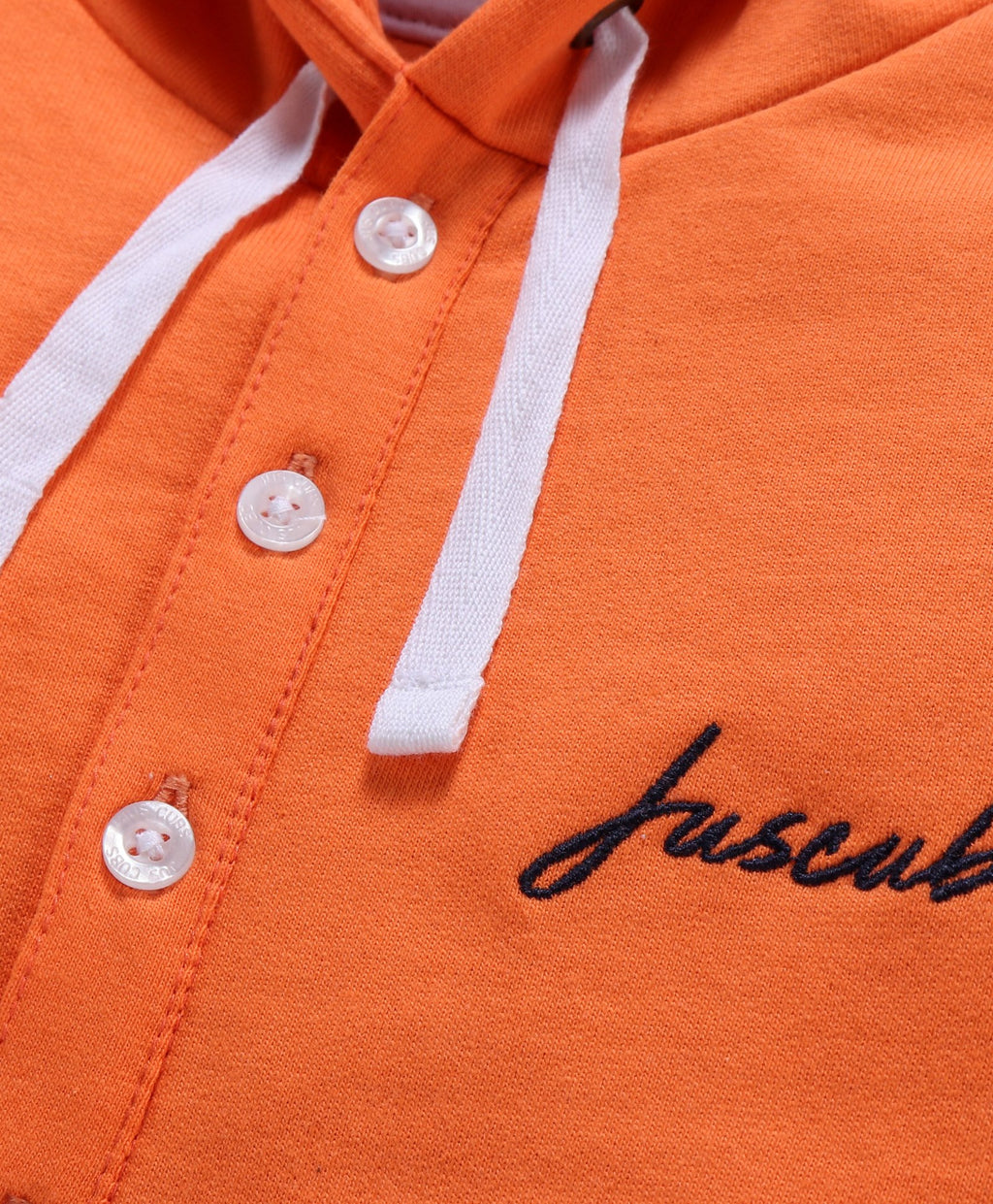 Jus Cubs Dual Shaded Full Sleeves Hoodie - Orange