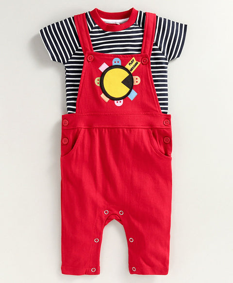 JusCubs Boys Dungaree Set