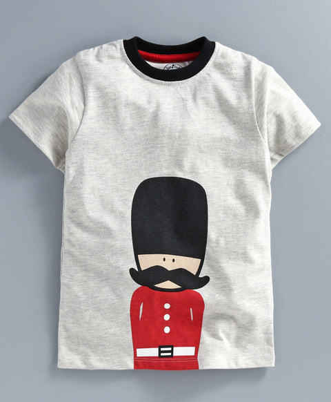 JusCubs Boys Royal British Guard Print T-Shirt