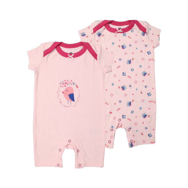 JusCubs Printed Romper Pack of 2