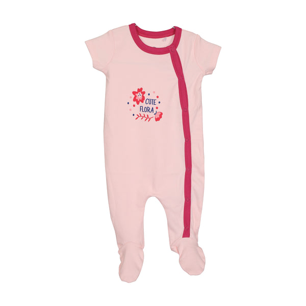JusCubs Solid Printed SleepSuit