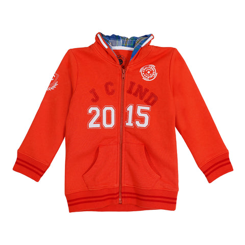 Jus Cubs Boys JC IND 2015 Hoodie Jacket - Red