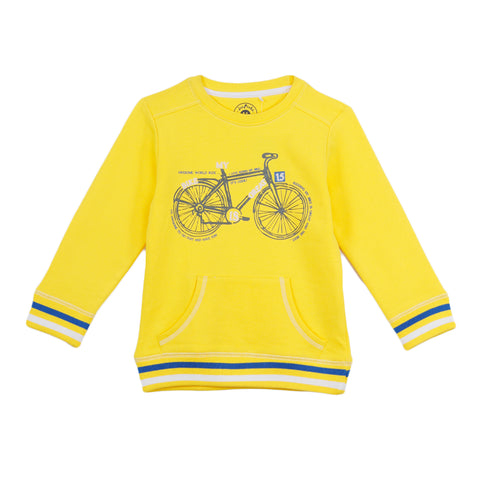 Jus Cubs Boys Bicycle World Ride Printed- Yellow