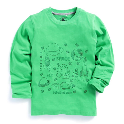 JusCubs printed Round neck T-shirt Full Sleeve