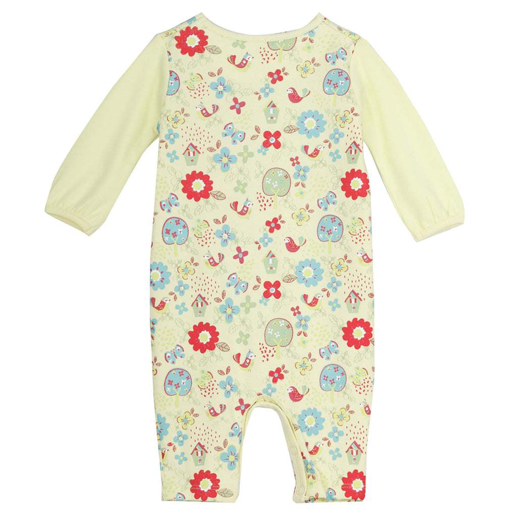 JusCubs Printed AOP Flower Romper