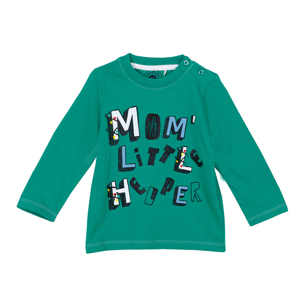 Jus Cubs Boys Mom Little Helper-T-Shirt