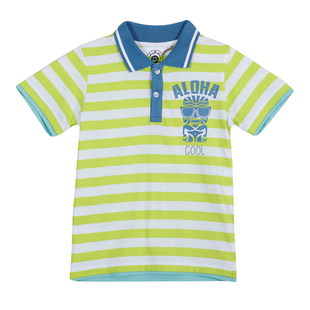 JusCubs Aloha Polo Stripe
