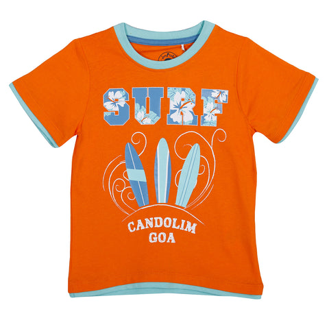 JusCubs Candolim Goa Surf T-Shirt