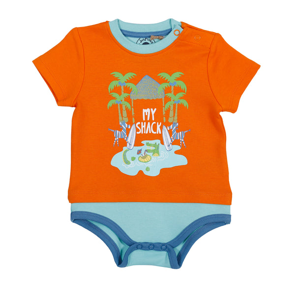 JusCubs My Shack Printed Body Suit