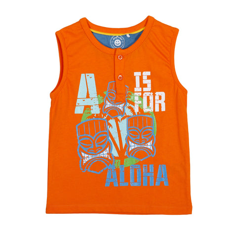 JusCubs Aloha Printed Sleeveless T-Shirt