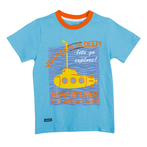 JusCubs Printed Sea Depth Adventure T-shirt
