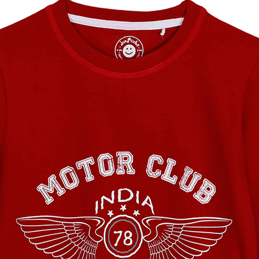 JusCubs Printed Motor Club India Sweatshirt