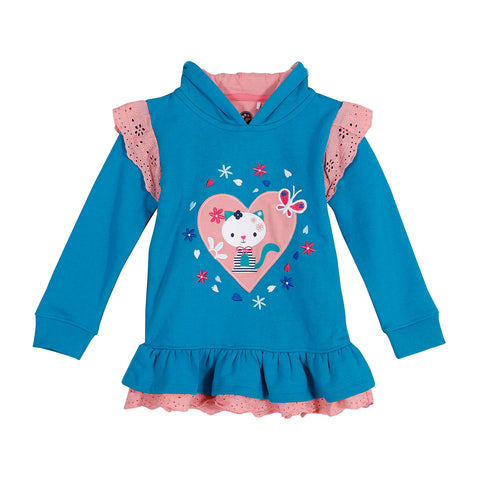 Jus Cubs Girls Fashion Sweatshirt Hoodie - Blue