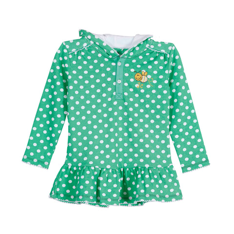 JusCubs Girls Polka Dot Printed Sweatshirt Hoodie - Green