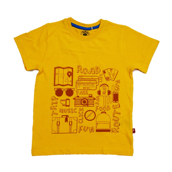 JusCubs Boys Vaccation Print T-Shirt