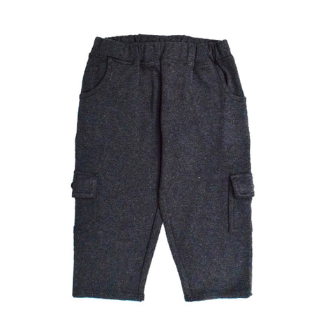 JusCubs Boys Fashion Cotton Pant - Charcoal