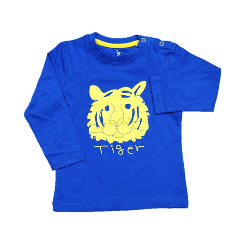 Cuby Clubz Tiger Print Full Sleeve T-Shirt