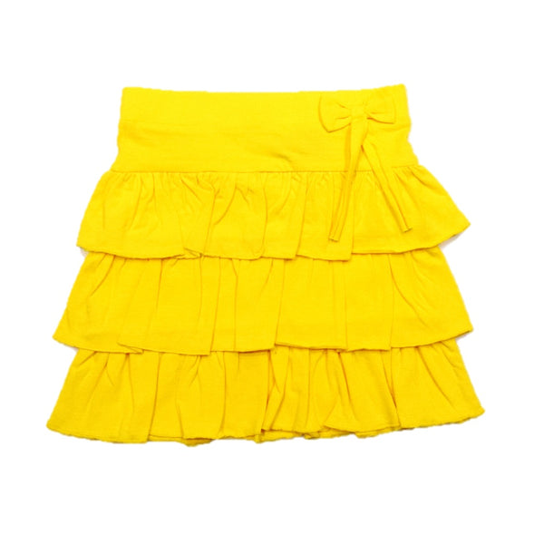 JusCubs Girls Three Frill Skirt With Self Fabric Bow