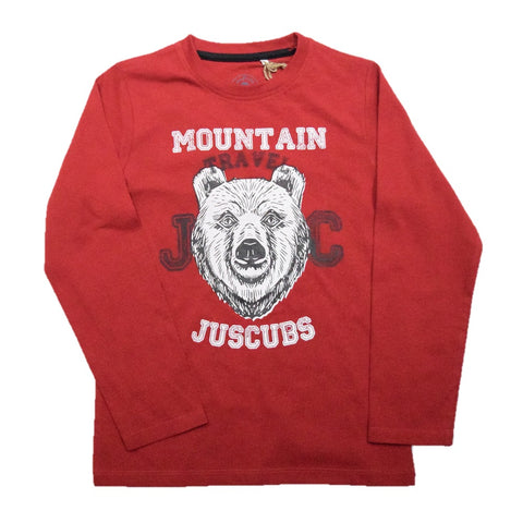 JusCubs Boys JC Mountain travel Print Full Sleeve T-Shirt