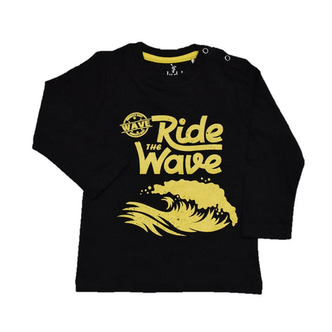 Cuby Ride The Wave Print Full Sleeve T-Shirt