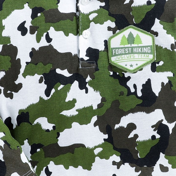 JusCubs Olive camouflage Print Full Sleeves T-Shirt