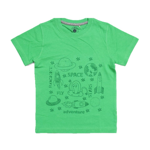 JusCubs Boys SPACE Print T-Shirt