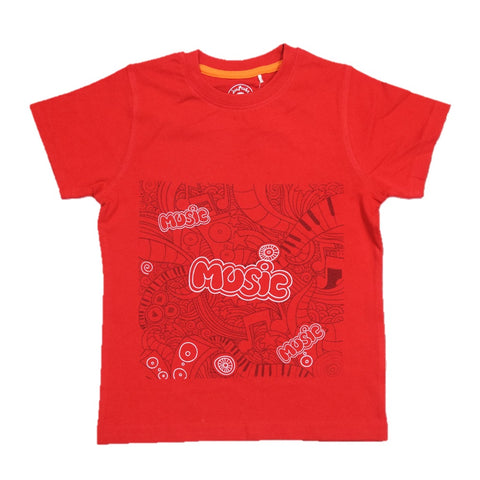 JusCubs Boys Music Print T-Shirt