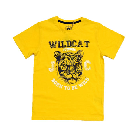JusCubs Boys WildCAT Print T-Shirt