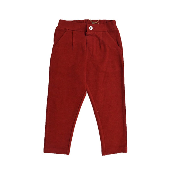 JusCubs Boys Fashion Cotton Pant - Merron