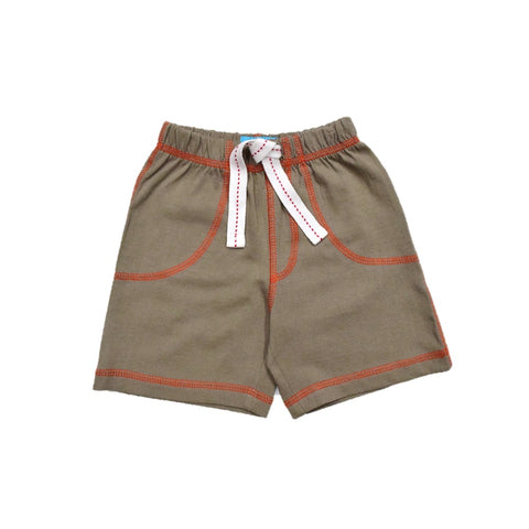 JusCubs Boys Plain Cotton Shorts - Olive