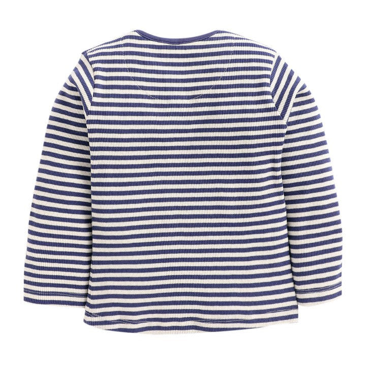 JusCubs Navy Strip Full Sleeve Top