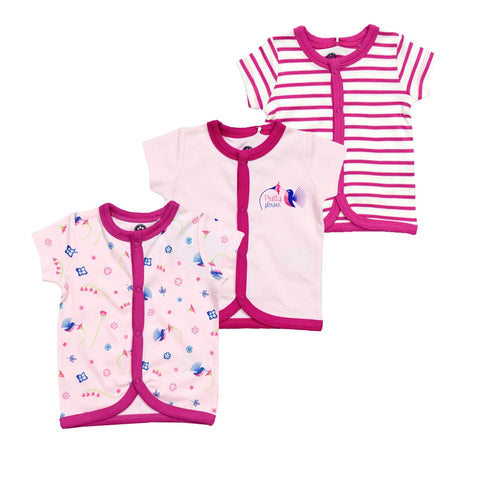 JusCubs Girls AOP-Solid-Stripe Jabla Pack of 3