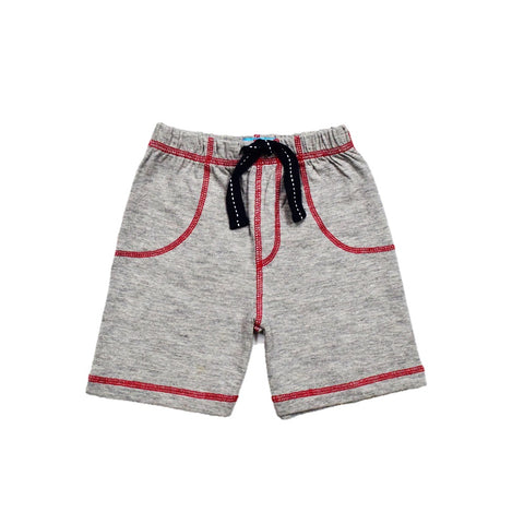 JusCubs Boys Plain Cotton Shorts - Grey Melange